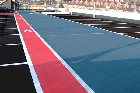 Clear binders for colored asphalt and pigments